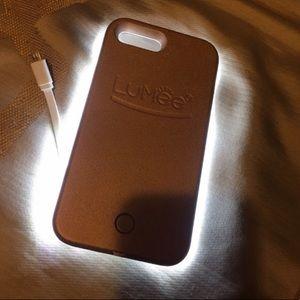 BRAND NEW ROSE GOLD LUMEE IPHONE 5 case